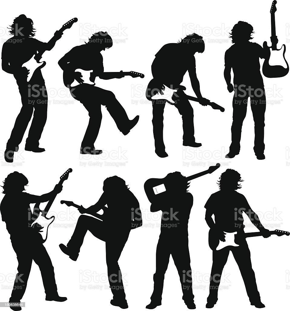 Guitar legend vector art illustration