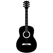 istock Guitar on a white background 1125647593