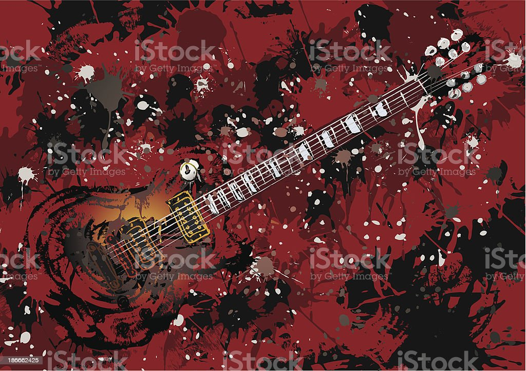 Guitar Painting vector art illustration