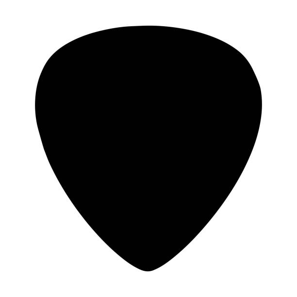 illustrazioni stock, clip art, cartoni animati e icone di tendenza di guitar pick icon - raccogliere frutta