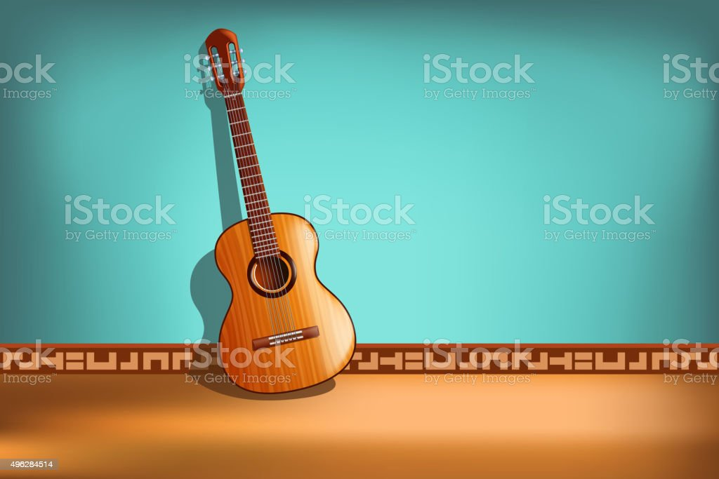 guitar picture vector art illustration