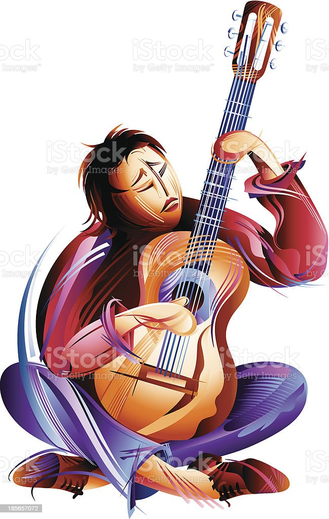 Guitar Player royalty-free guitar player stock vector art & more images of abstract