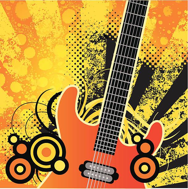 Gitarre retro – Vektorgrafik