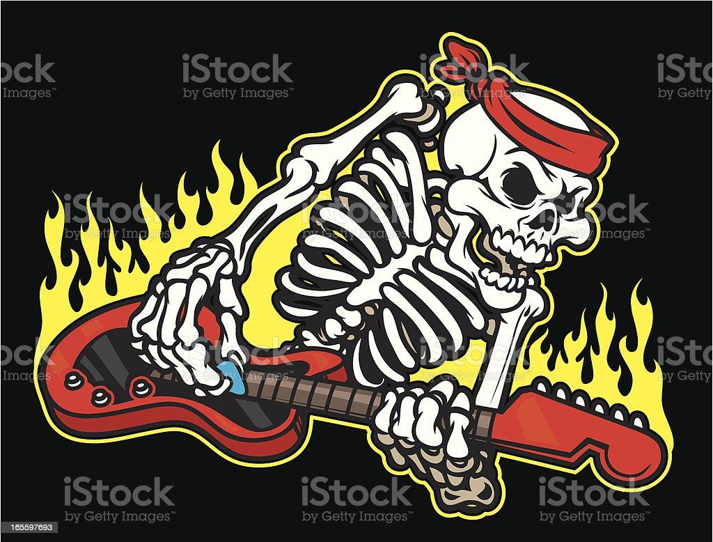 Guitarra de Skeleton ilustración de guitarra de skeleton y más banco de imágenes de calor libre de derechos