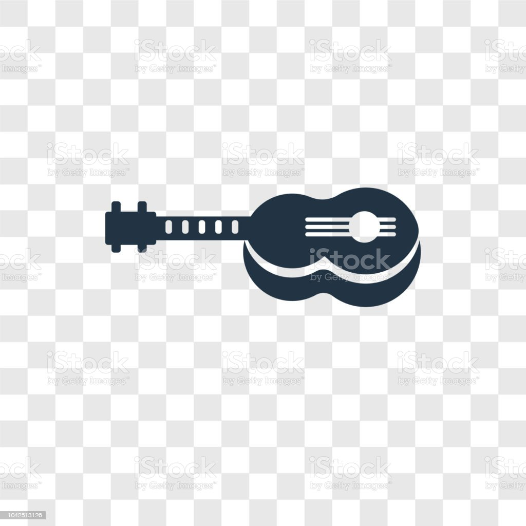 Guitar Vector Icon Isolated On Transparent Background Guitar Transparency Logo Design Stock Illustration Download Image Now Istock