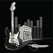 modern rock-music design, layered vector artwork