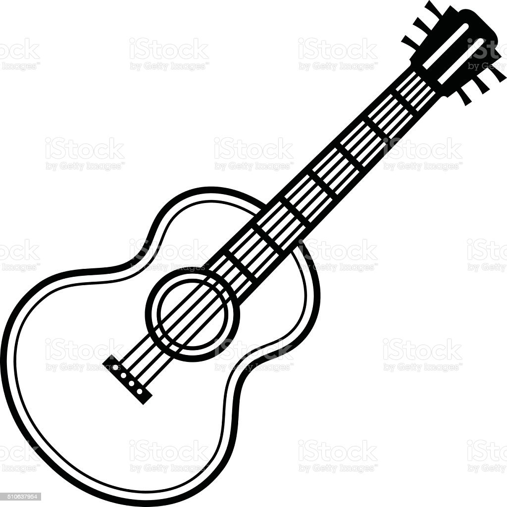 Line Art Guitar : Guitar stock vector art more images of acoustic