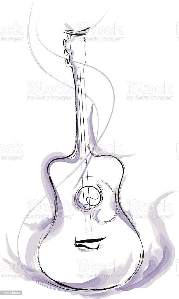 Guitar royalty-free guitar stock vector art & more images of acoustic guitar