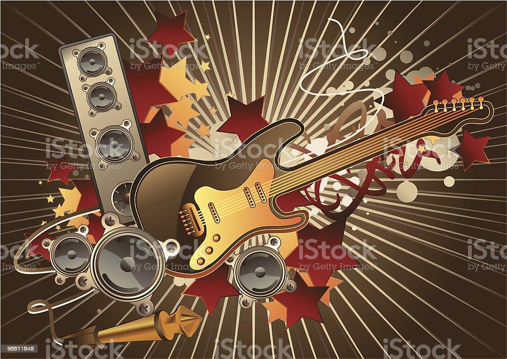 Guitar - Royaltyfri Abstrakt vektorgrafik
