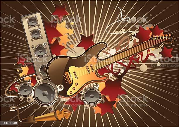 Guitar-vektorgrafik och fler bilder på Abstrakt