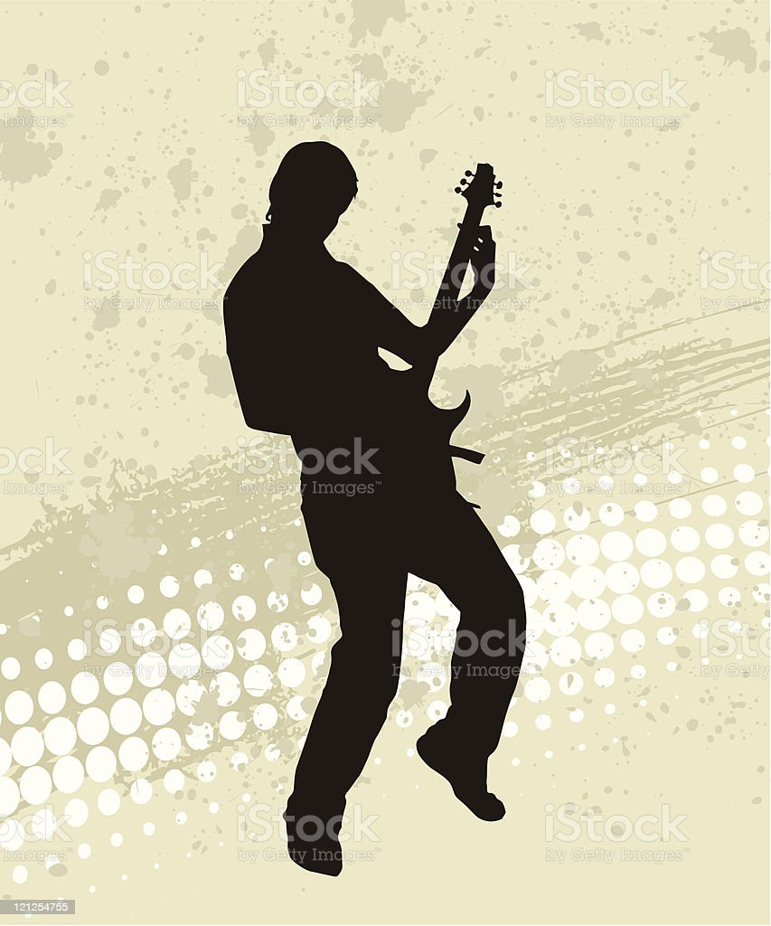 Guitarist Silhouette royalty-free stock vector art