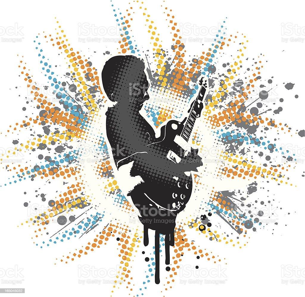Guitarist vector design royalty-free stock vector art