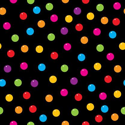 Gum Ball Seamless Pattern