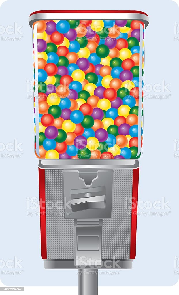 Gumball Machine Filled royalty-free stock vector art