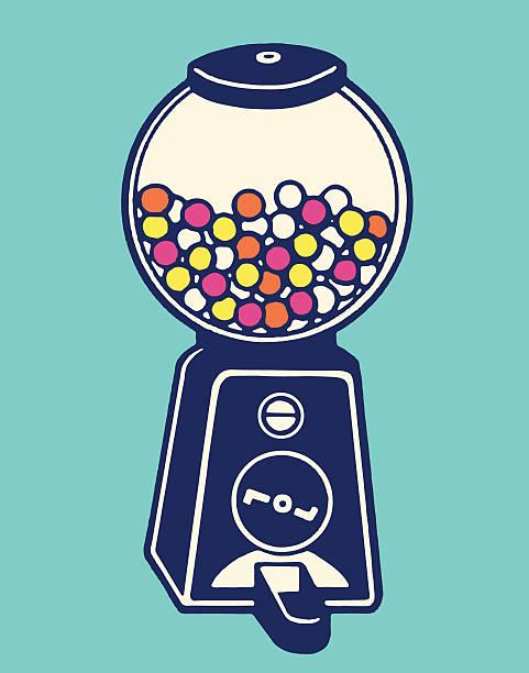 gumball machine - empty vending machine stock illustrations