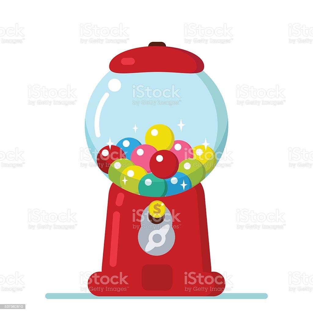 gumball machine stock vector art more images of ball 537362810 rh istockphoto com Bubble Gum Graphics bubble gum machine clipart free