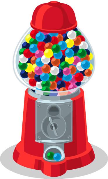 gumball - empty vending machine stock illustrations