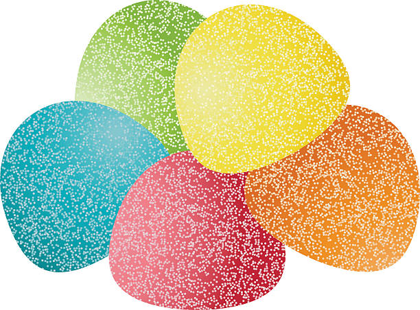 Gumdrops Candy Scalable vectorial image representing a gumdrops candy, isolated on white. gum drop stock illustrations