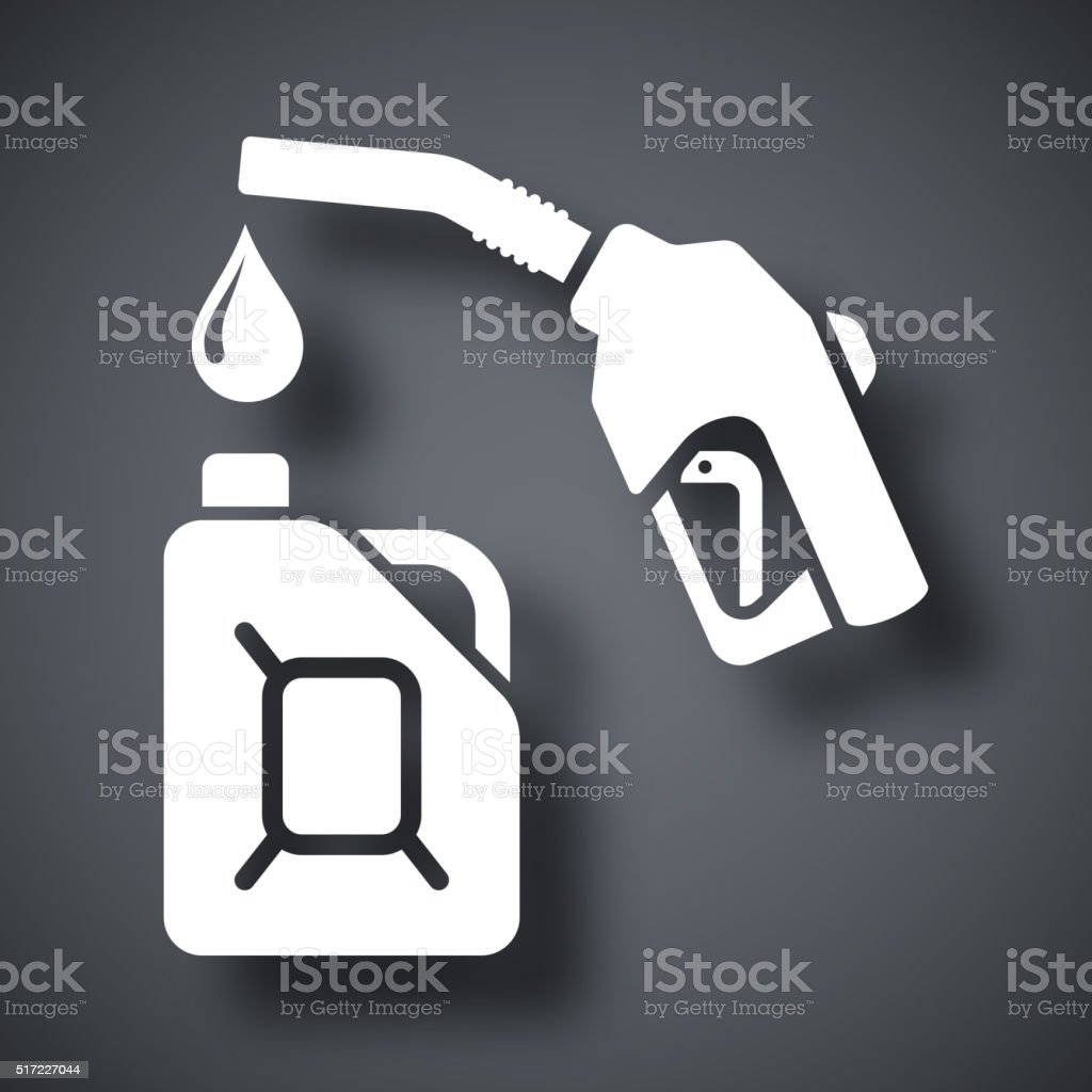 Gun for fuel pump and canister of fuel vector art illustration