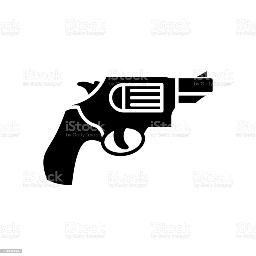 銃のアイコンミリタリーアイコン リボルバーピストル軍装備と武装伝説