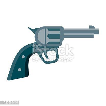 istock Gun Icon on Transparent Background 1282383418