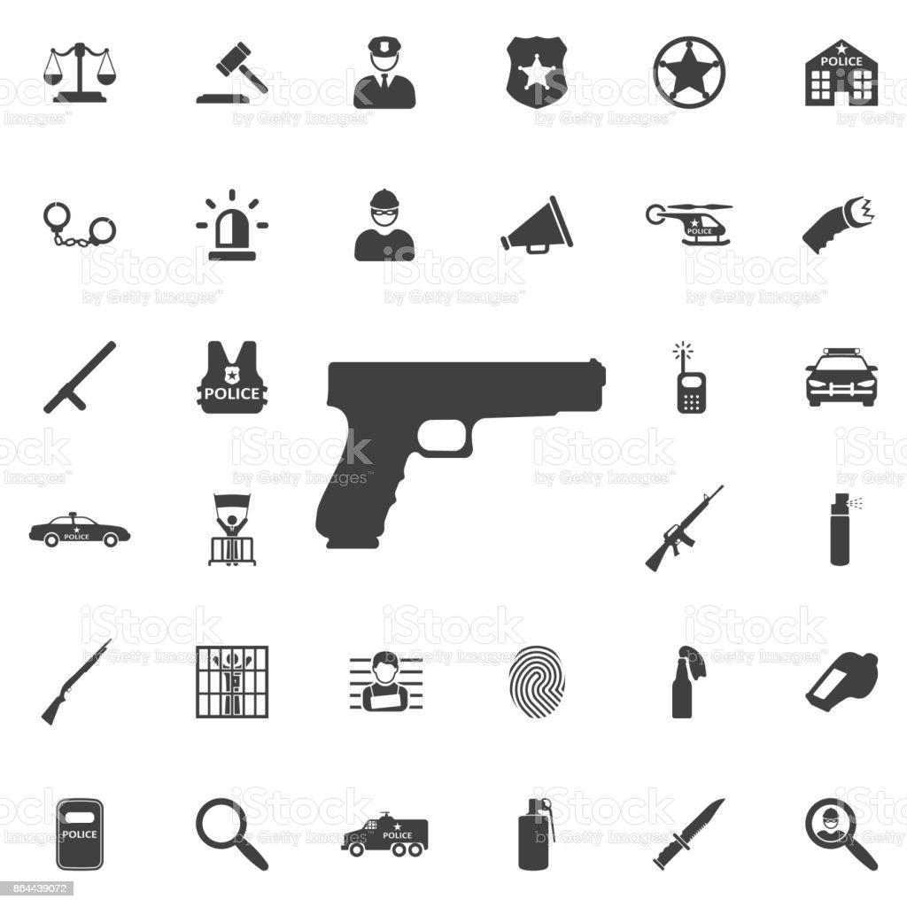 Icono de pistola - ilustración de arte vectorial