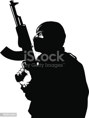 istock Gun  man 165634564