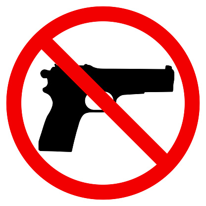 Gun Prohibition sign vector illustration