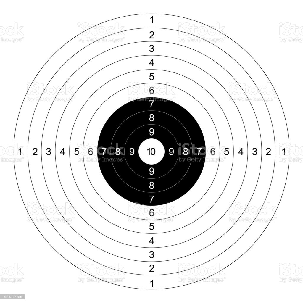 gun shooting paper targets vector with white background vector art illustration