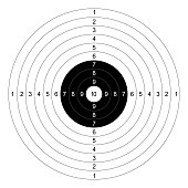gun shooting paper targets vector with white background