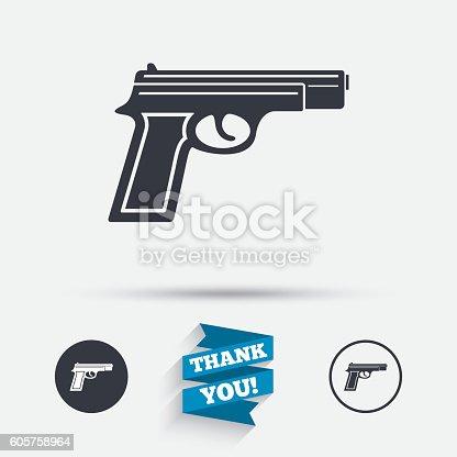 Gun Sign Icon Firearms Weapon Symbol Stockvectorkunst En Meer