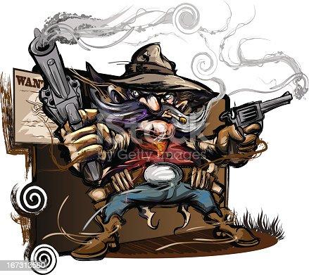 istock Gun Slinging Western Outlaw 167313560