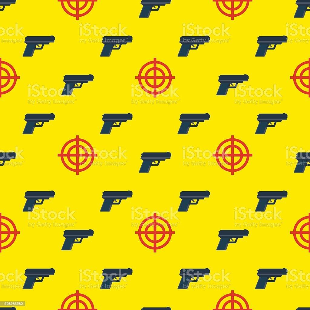 gun targets seamless pattern gun targets seamless pattern – cliparts vectoriels et plus d'images de agression libre de droits
