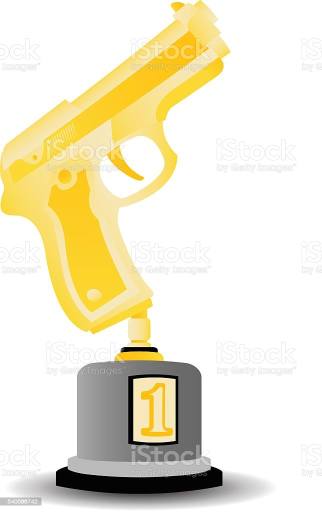 Gun Trophy royalty-free gun trophy stock vector art & more images of award