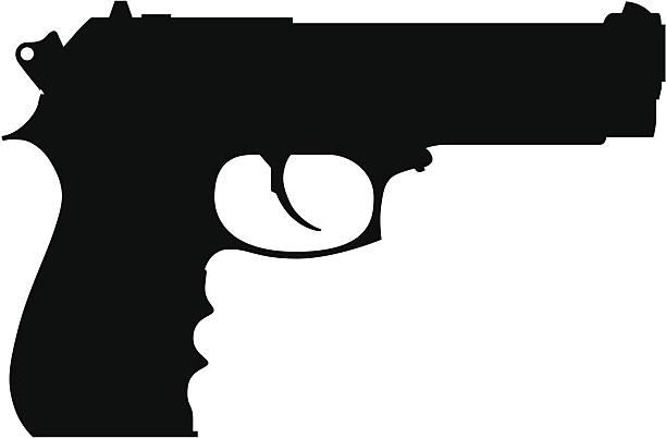 Best Handgun Illustrations, Royalty-Free Vector Graphics ...