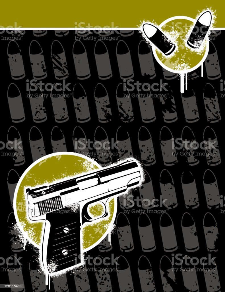 Gun Violence royalty-free stock vector art