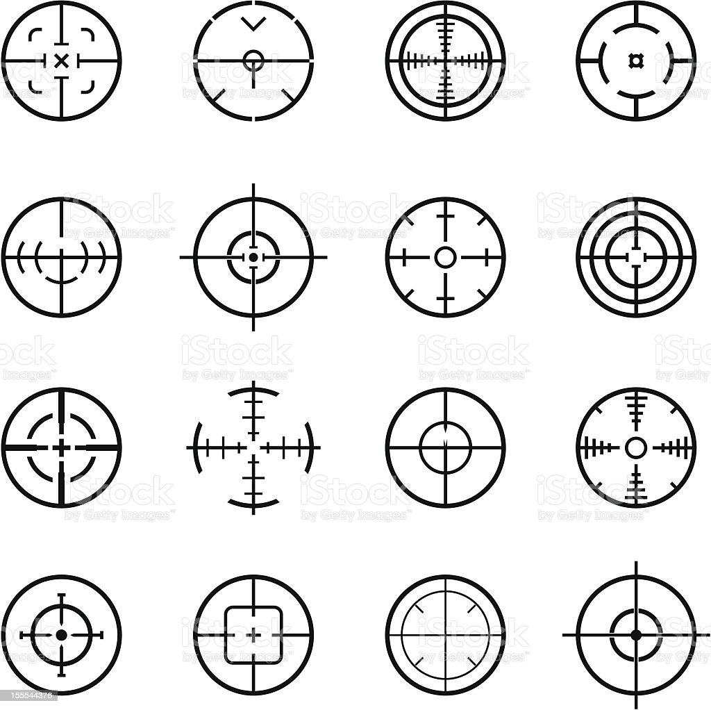 gunpoint - crosshair vector art illustration
