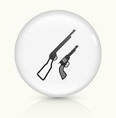 istock Guns icon on white round vector button 531772356