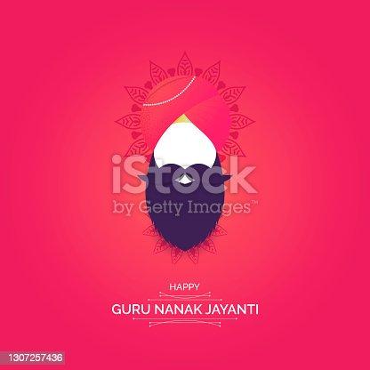 istock Guru Nanak Jayanti illustration vector. 1307257436