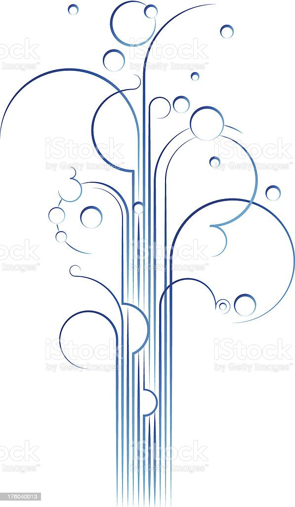 Gushy linhas - ilustração de arte em vetor