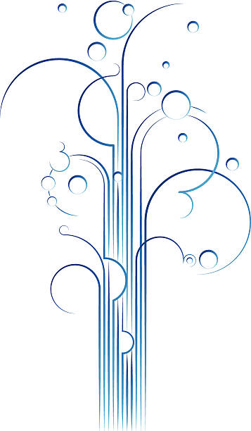 ilustrações, clipart, desenhos animados e ícones de gushy linhas - fontes de bolha