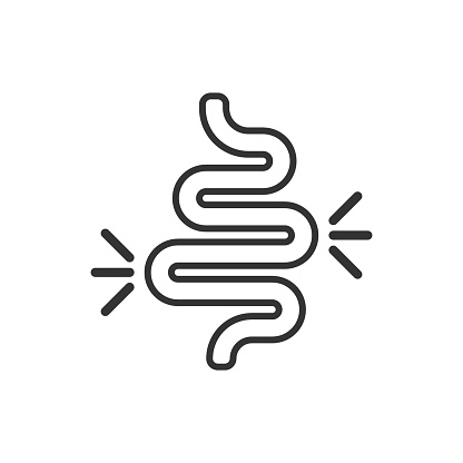 Download Gut Constipation Icon In Flat Style Colitis Vector ...