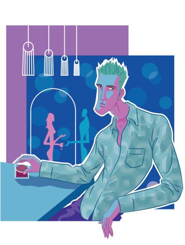 Guy In Pub-vektorgrafik och fler bilder på Alkohol
