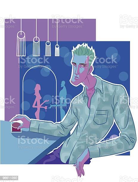 Guy Im Pub Stock Vektor Art und mehr Bilder von Abwarten