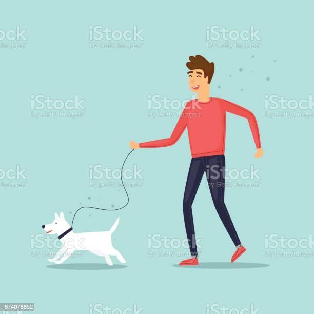 Guy on a walk with a dog character design isolated flat design vector vector id674078652?b=1&k=6&m=674078652&s=612x612&h=d4juagmfhqgqjlrgwpn52ra wy7iwq0p7aqvpnhbv7q=