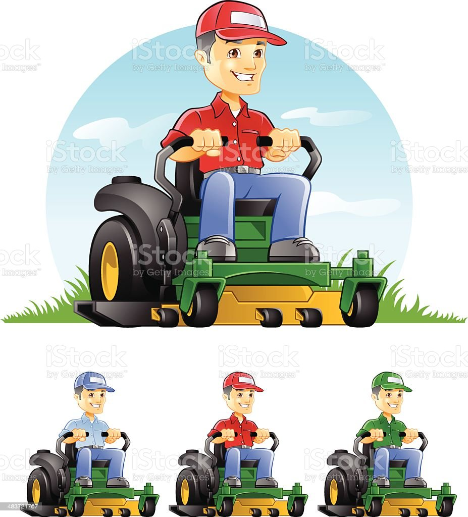 royalty free lawn mower clip art vector images illustrations istock rh istockphoto com lawn mowing clip art free lawn mowing clip art free