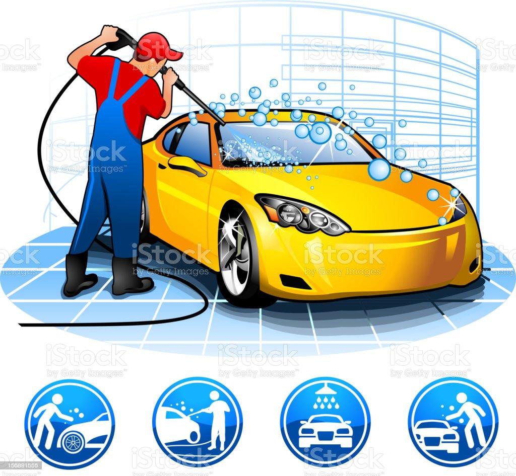 guy washing car Brands battle