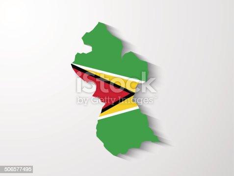 Guiana país mapa com efeito de sombra apresentação