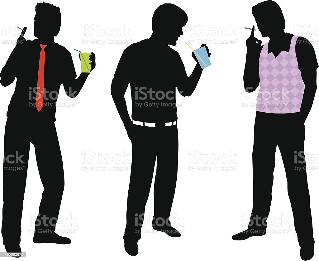 Guys in the Club royalty-free stock vector art