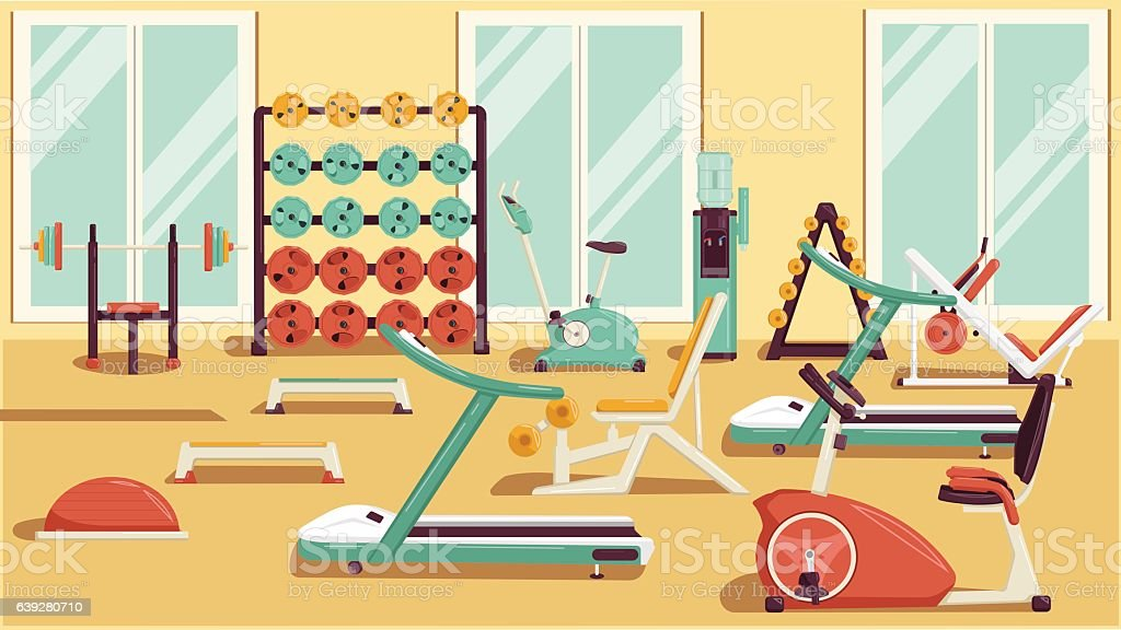 royalty free gym equipment clip art vector images illustrations rh istockphoto com gym clipart cute gym clipart background